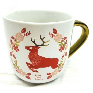 Threshold  coffee mug cup large white red gold han